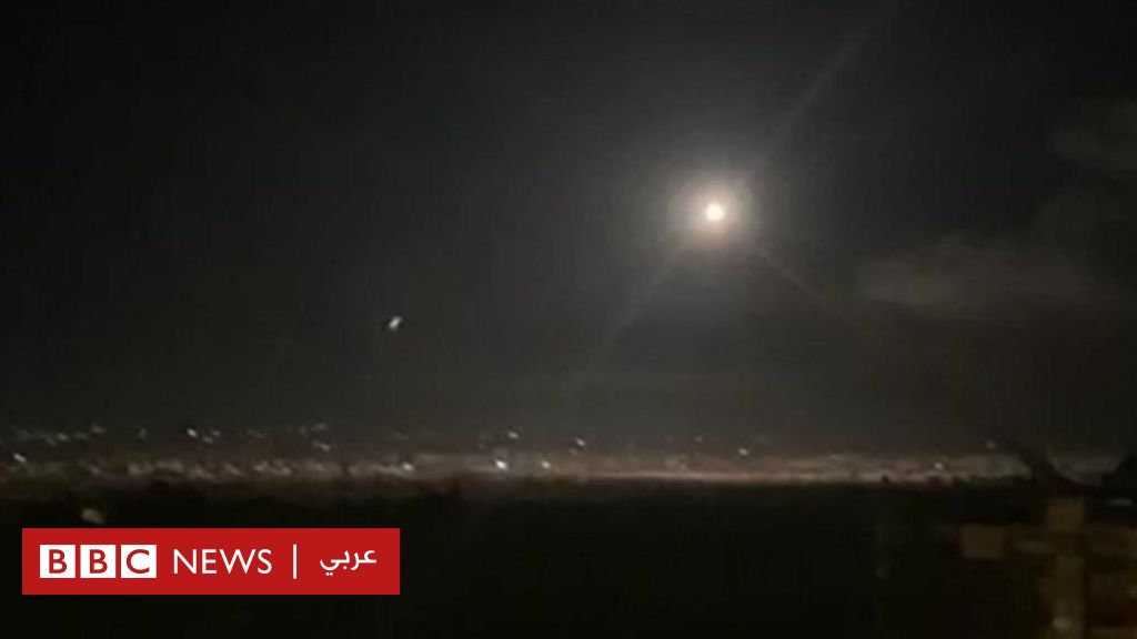 الدفاع الجوي السوري  يتصدى لأهداف معادية  في سماء دمشق - BBC News Arabic