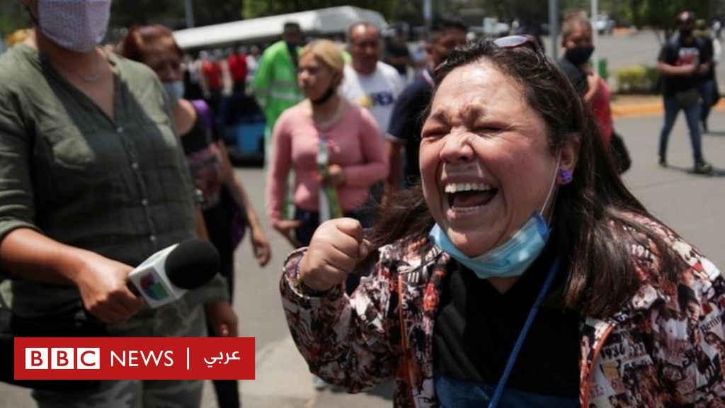 صدمة وحزن وغضب بسبب تحطم مترو في العاصمة المكسيكية - BBC News عربي