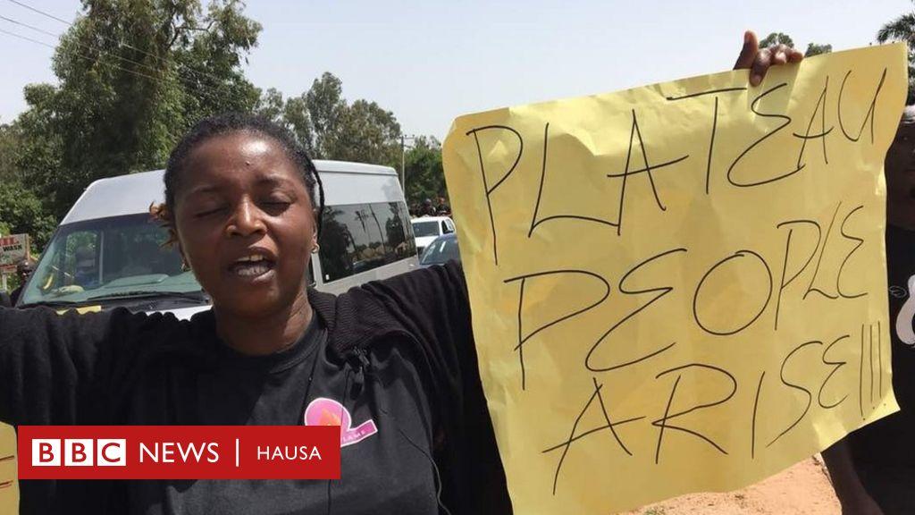 Kalli hotunan zanga-zangar da Kiristoci suka yi a Jos - BBC News Hausa