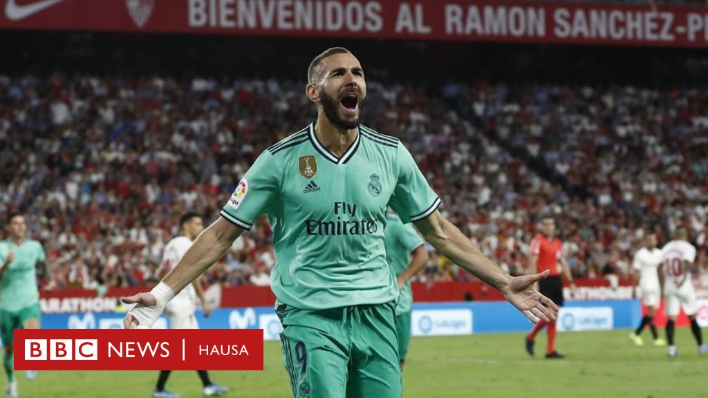 Real Madrid Vs Sevilla Benzema Ya Ceci Zidane Bbc News Hausa