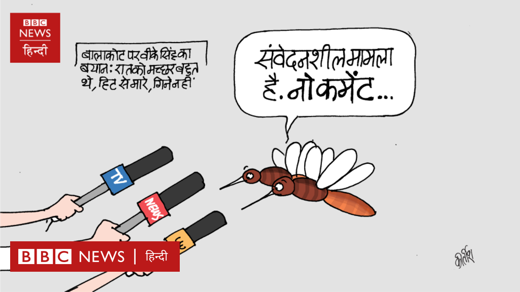 बालाकोट हमले पर वीके सिंह का बयान और आज का कार्टून.