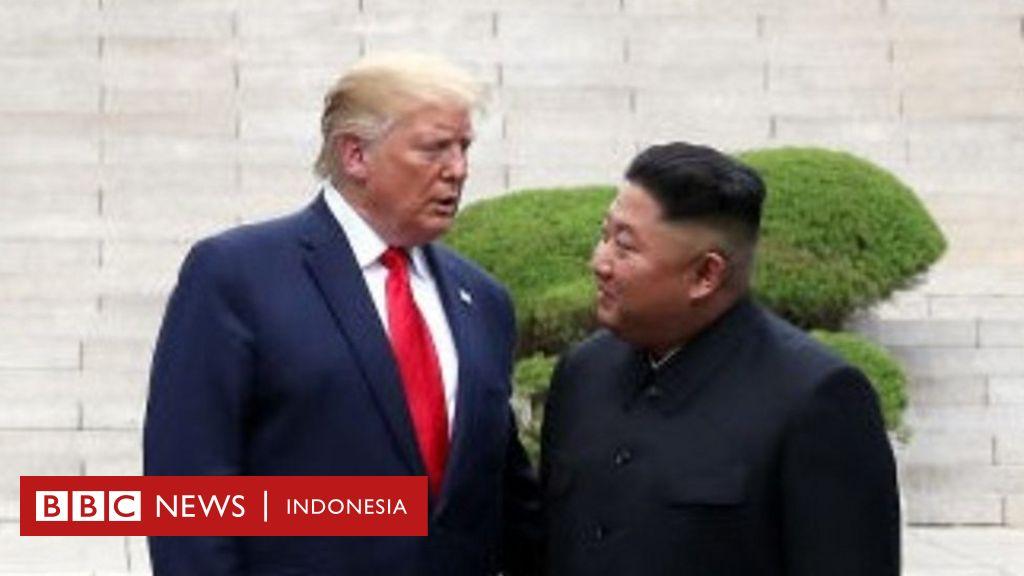 Cetak sejarah, Trump jadi presiden AS pertama yang injakkan kaki di Korea  Utara