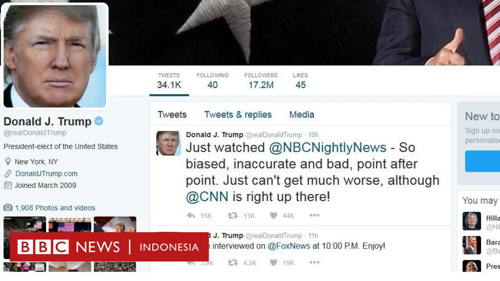 Bbc News Twitter: Trump Dan Twitter, Sejarah Seorang Pria Dan 'media'-nya