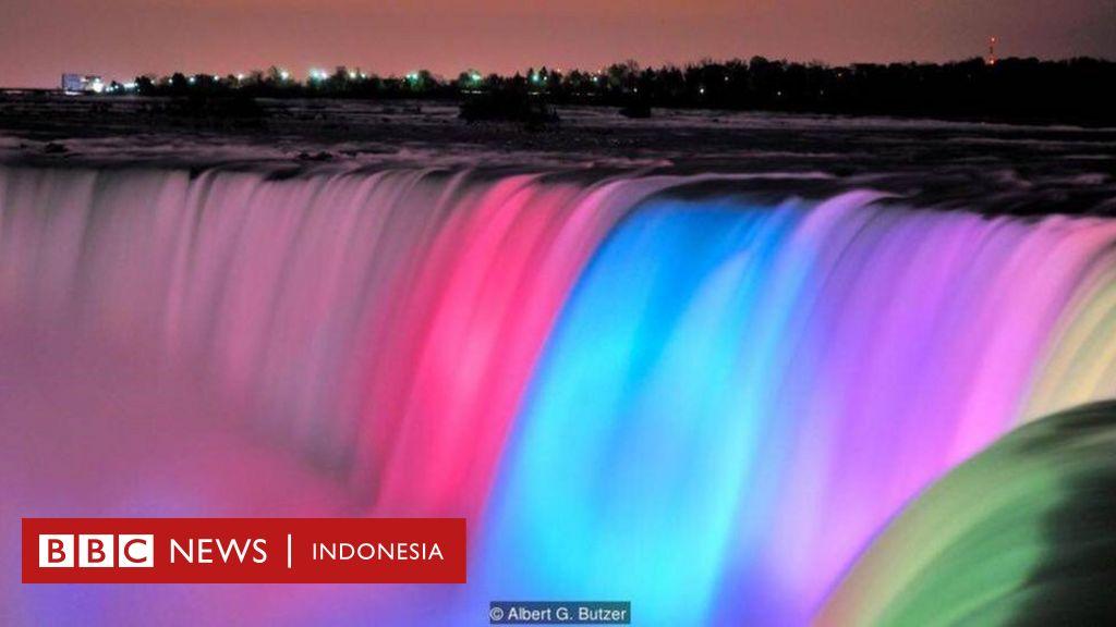 Tampilan Baru Penuh Warna Di Air Terjun Niagara Bbc News Indonesia
