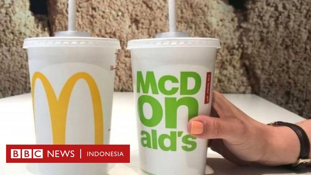 McDonald s akan menghentikan pemakaian sedotan plastik