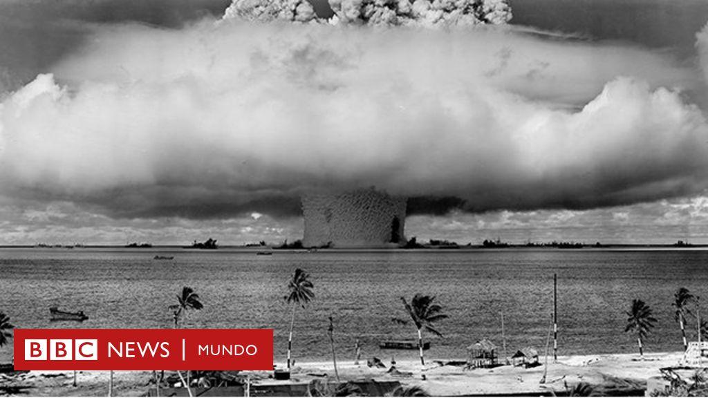 La huella de la primera bomba nuclear explosionada en el mar que todavía es visible en Bikini después de 73 años