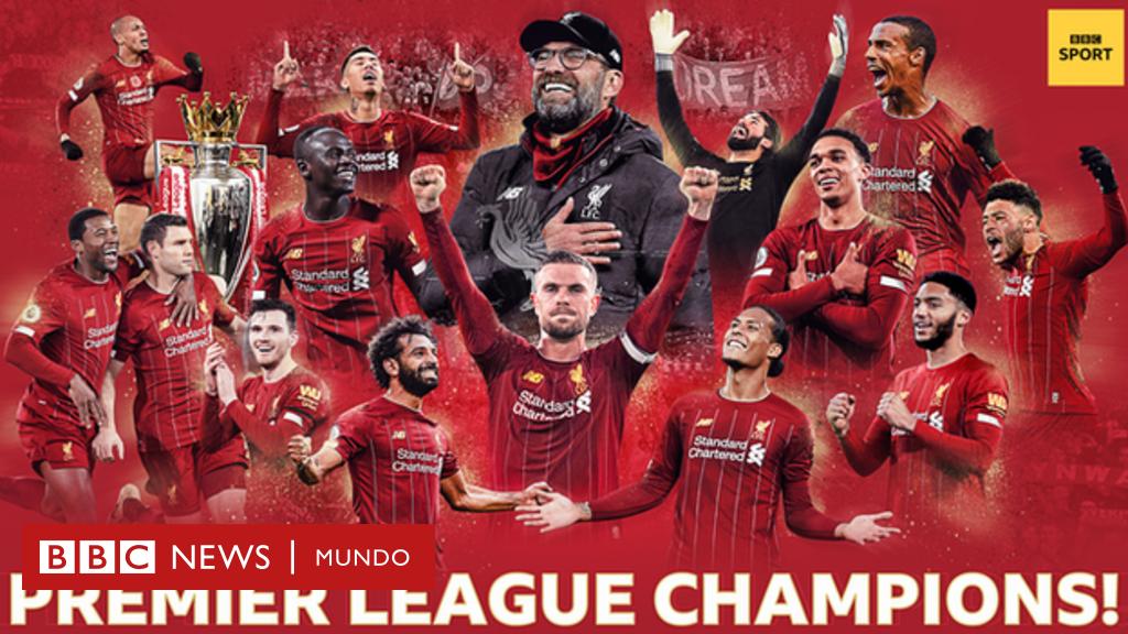 El Liverpool, campeón de la liga inglesa de fútbol 30 años después - BBC News Mundo