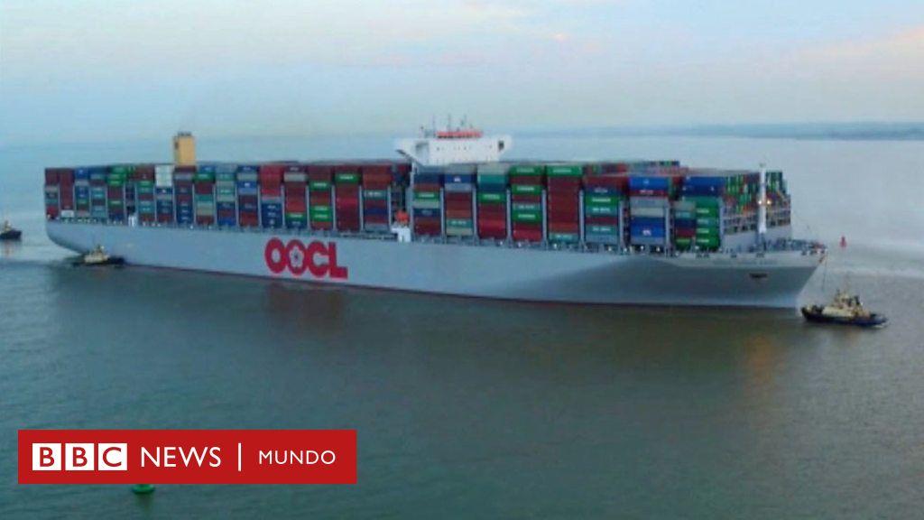 As es el barco oocl hong kong el carguero m s grande del mundo tan largo como el empire state - Contenedores de barco ...