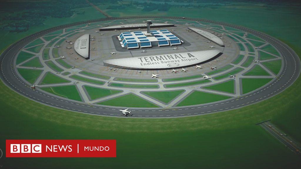 El hombre que quiere construir aeropuertos con pistas de aterrizaje circulares - BBC News Mundo