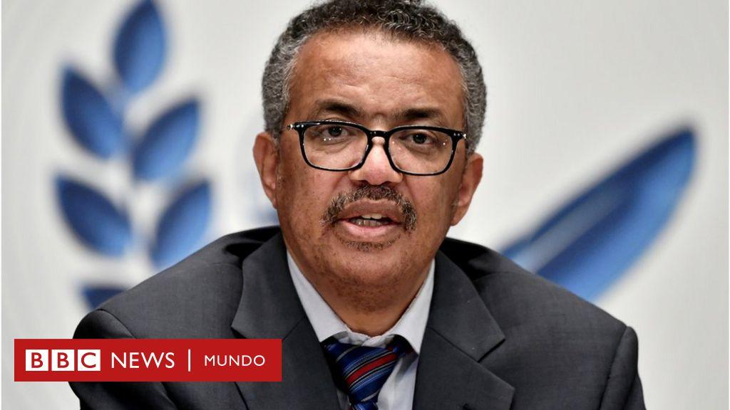 World Health Organization (WHO) Director-General Tedros Adhanom Ghebreyesus attends a news conference in Geneva