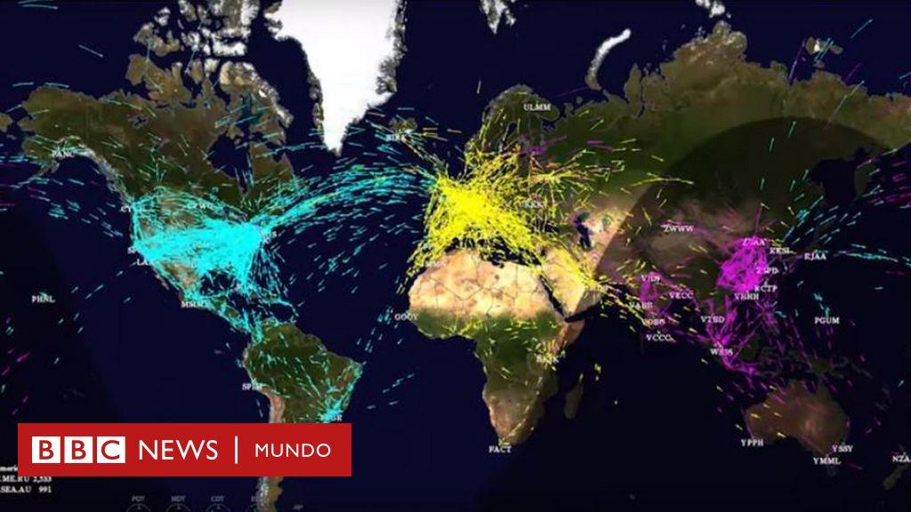 Los Mapas Que Muestran Los Niveles Récord De Tráfico Aéreo Y Los Planes De La Nasa Para Mejorarlo Bbc News Mundo