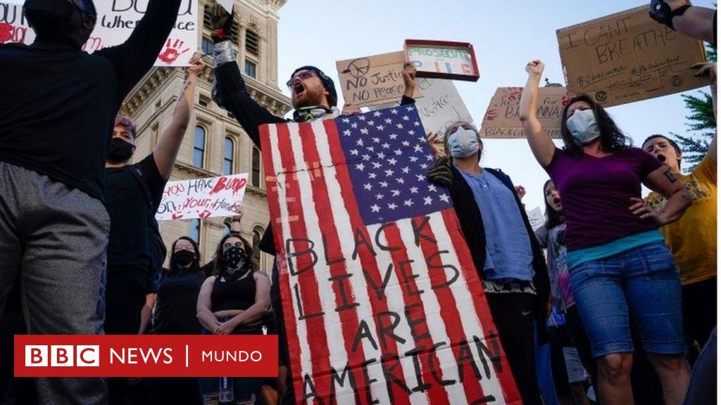 Una nueva oleada de protestas por la muerte de George Floyd estremece EE.UU. y lleva a un cierre de emergencia de la Casa Blanca - BBC News Mundo