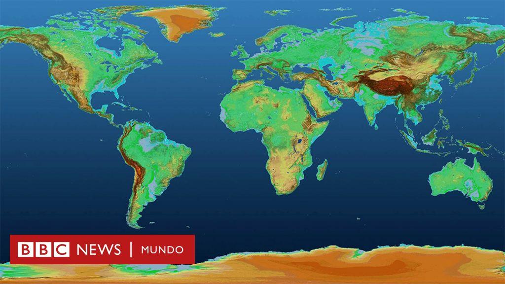 El Espectacular Mapa En 3d Que Muestra La Superficie De La Tierra