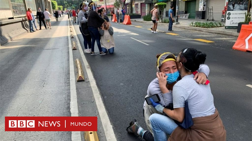 Terremoto En México Un Sismo De Magnitud 7 5 Y Epicentro En Oaxaca Deja Al Menos 10 Muertos Y Se Siente Con Fuerza En Ciudad De México Bbc News Mundo