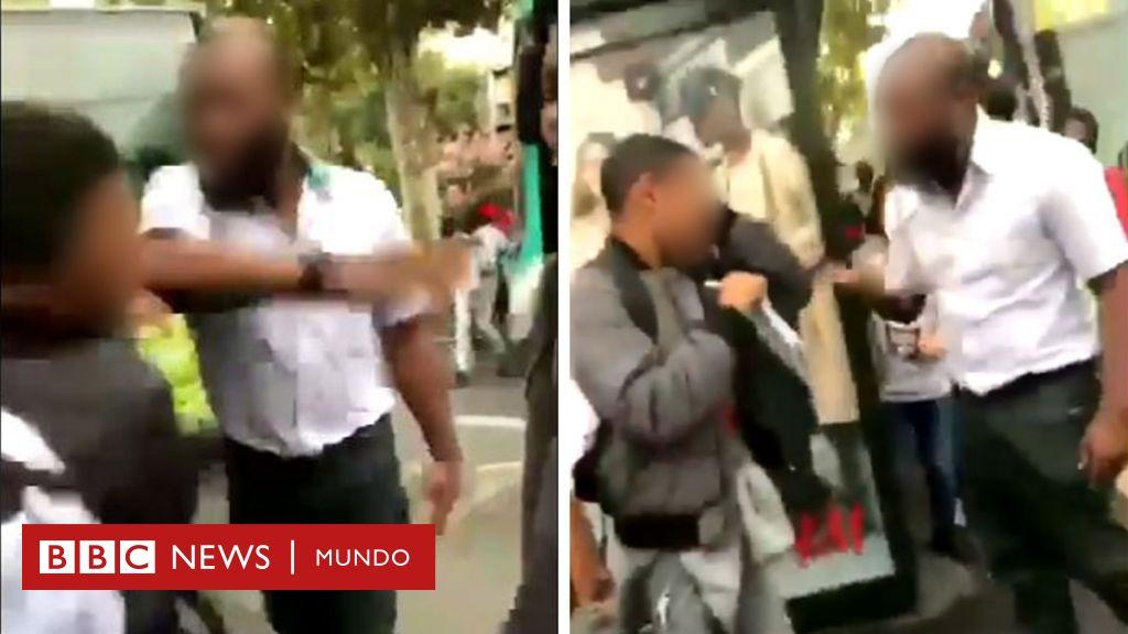 La bofetada de un chofer de autobús a un adolescente que causa polémica en Francia