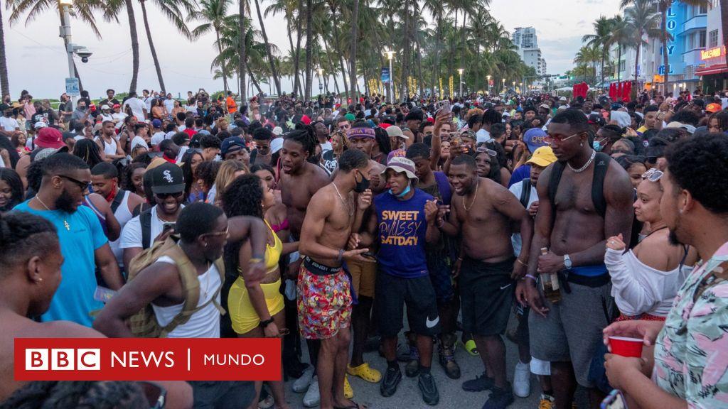 Coronavirus en Estados Unidos: las imágenes del 'caos' por el 'spring break' en Miami Beach que llevó a las autoridades a declarar un toque de queda por varias semanas