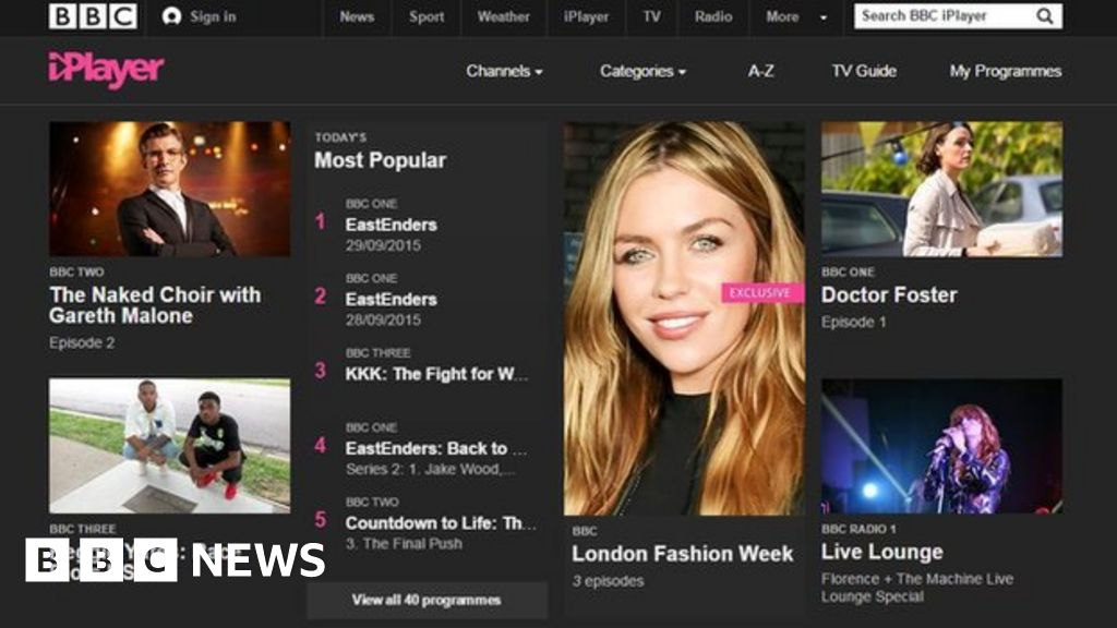 BBC News Photo: BBC IPlayer Moves Away From Flash And Towards HTML5