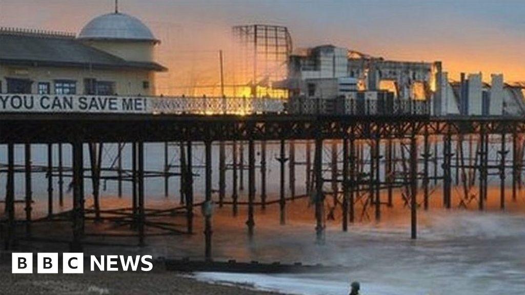 Who burnt down hastings pier webcam