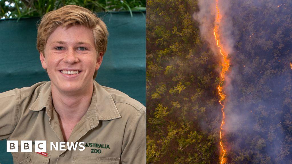 Robert Irwin: Steve Irwin's son wins award for bushfire image