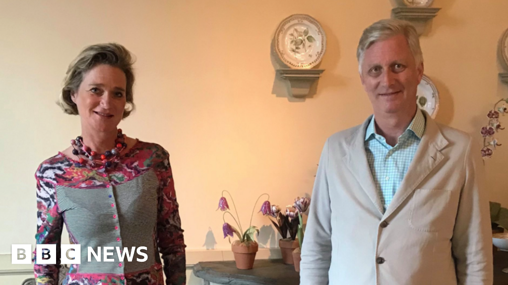 Belgian King Philippe meets half-sister Princess Delphine for the first time