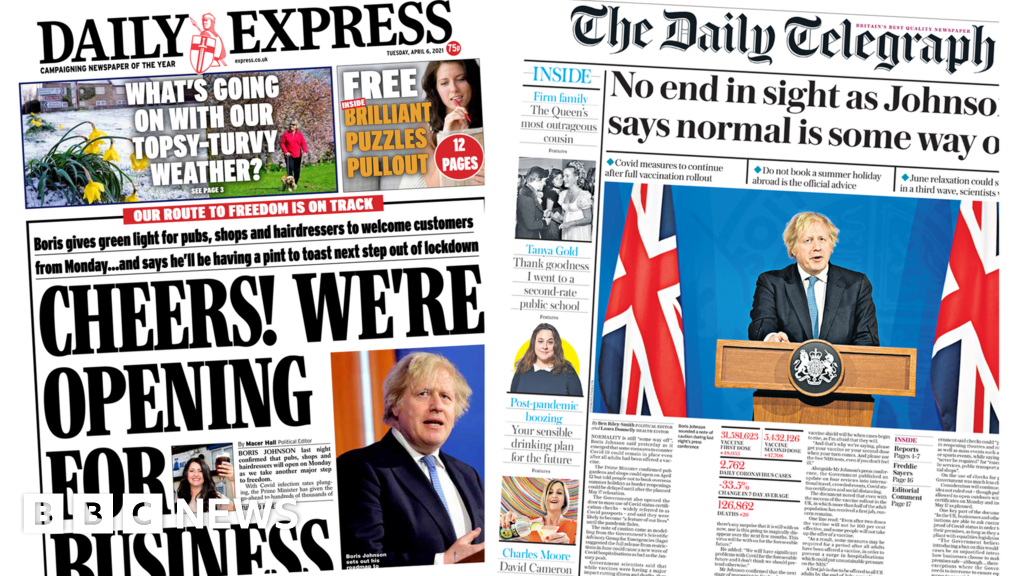 The Papers: 'Cheers' at roadmap