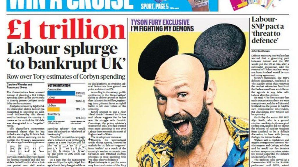 Scotland's papers: Tories' £1.2 trillion Labour spending claim thumbnail