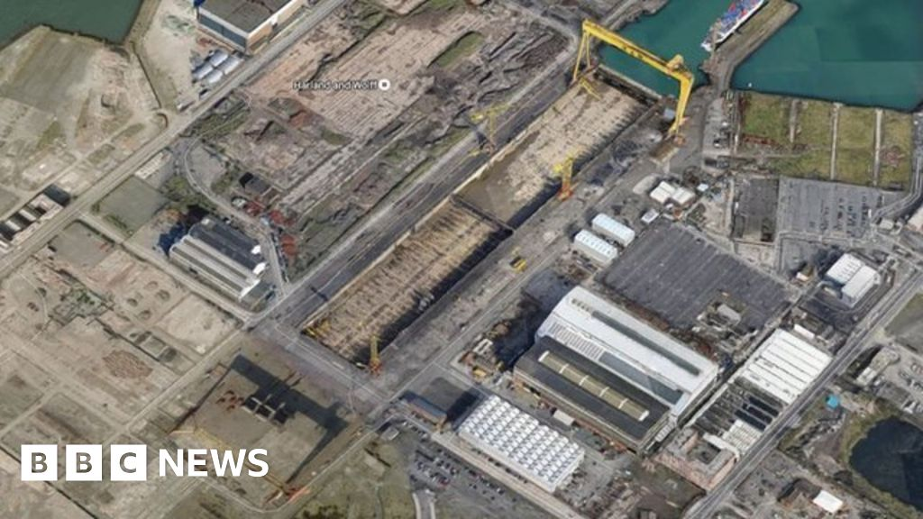 Google Maps omits Goliath crane from Harland and Wolff - BBC