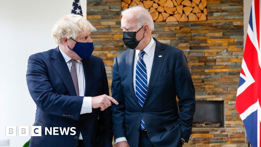 """G7: The UK and the US have an """"indestructible relationship"""", the PM said"""