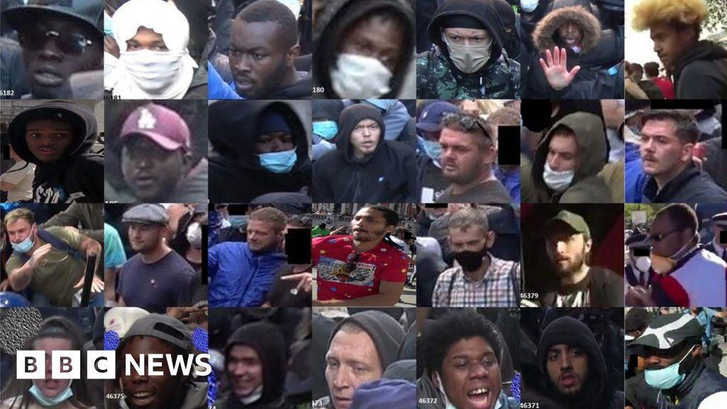 London protests: Police release images of 35 people thumbnail