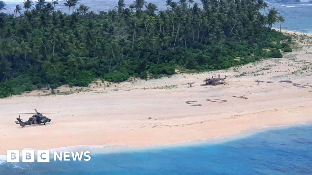 Beach SOS saves men stranded on tiny Micronesian island