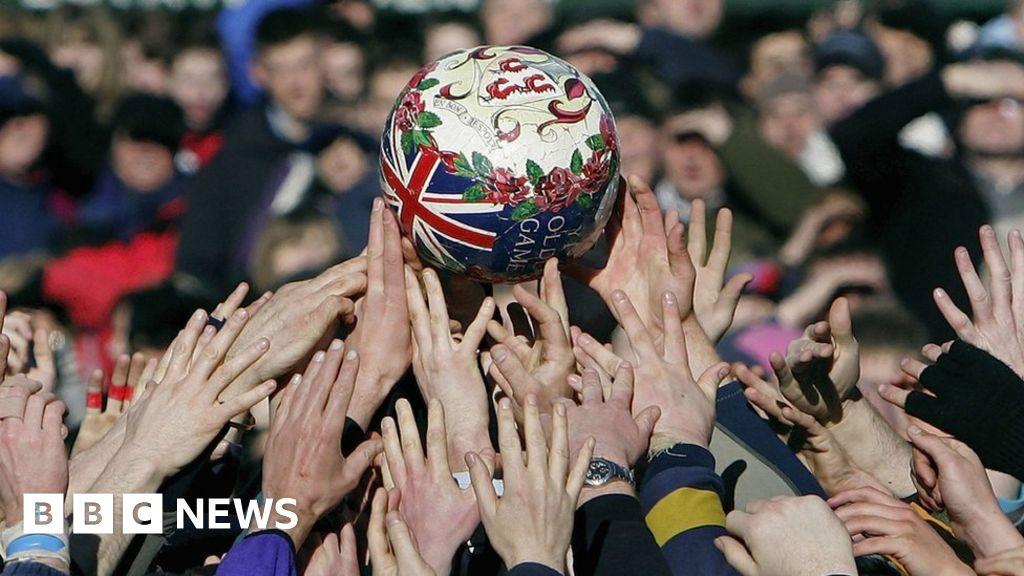 Shrove Tuesday football:  No quarter asked