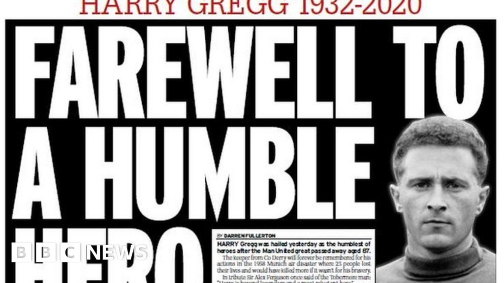 Death of Harry Gregg dominates NI newspapers