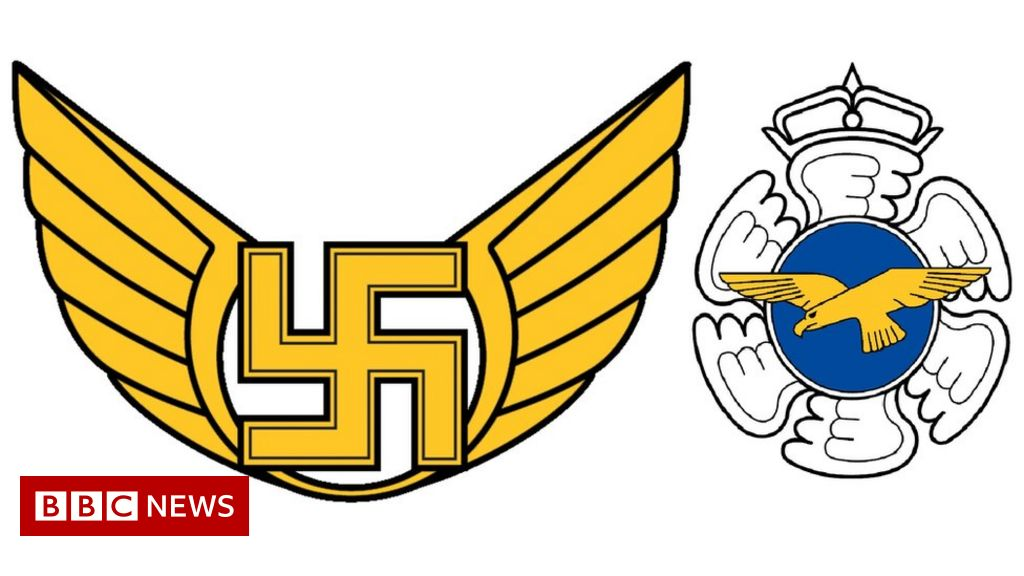 Photo of Finland's air force quietly drops swastika symbol | BBC News