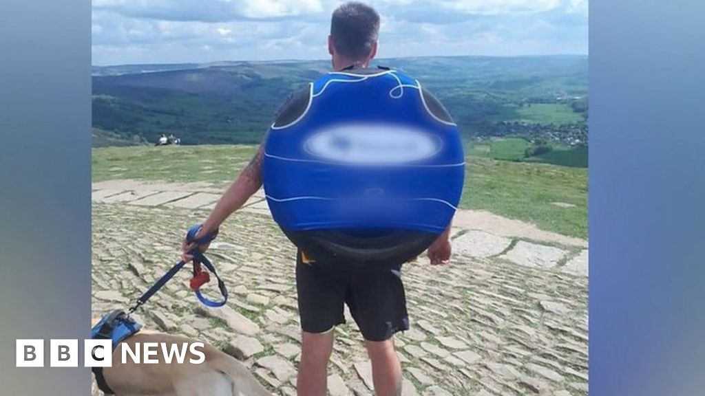'Why I run with a car tyre on my back'