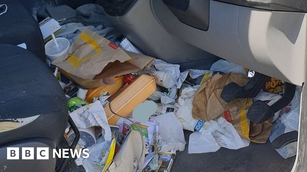 Van driver fined for litter in footwell