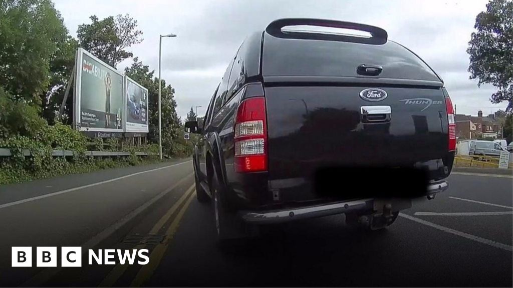 be854d30e8 Bedfordshire cyclist films  dangerous drivers  - BBC News