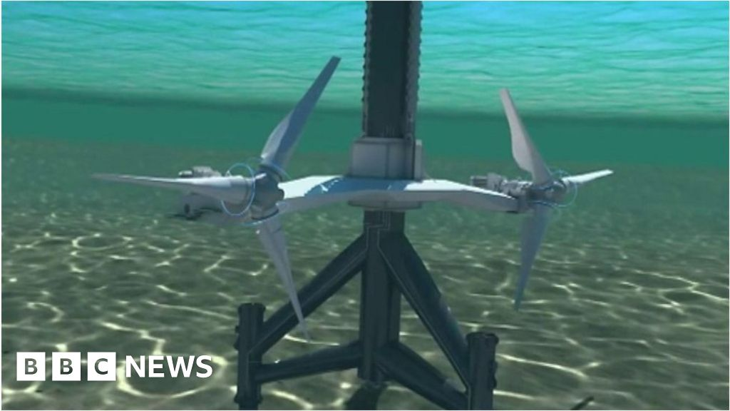 Animation of SeaGen tidal turbines - BBC News