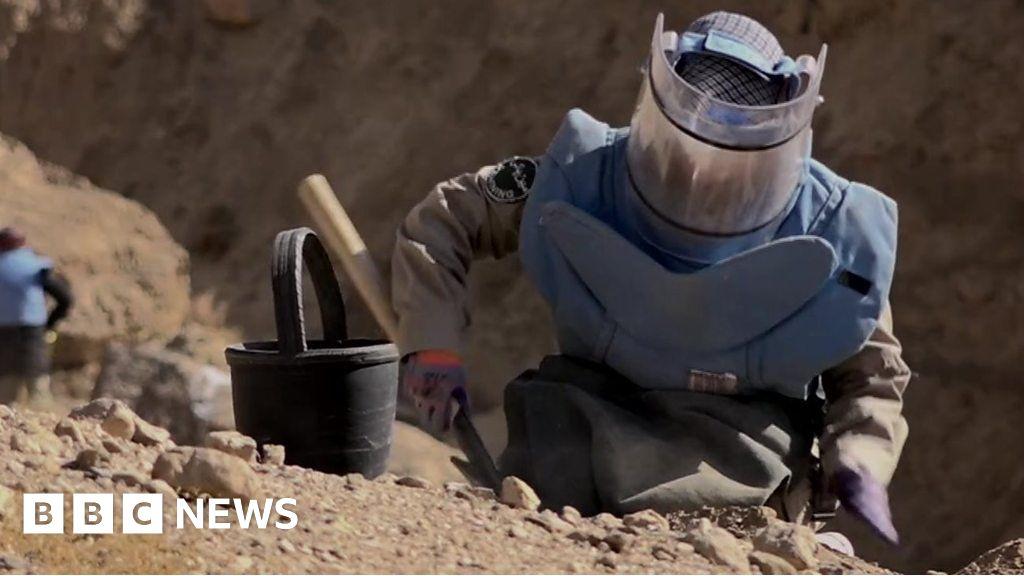 The women removing landmines in Afghanistan