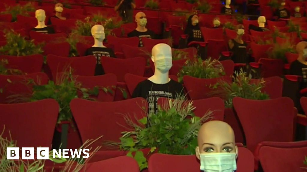 ICYMI: A flying bus, and a crowd of dummies in masks