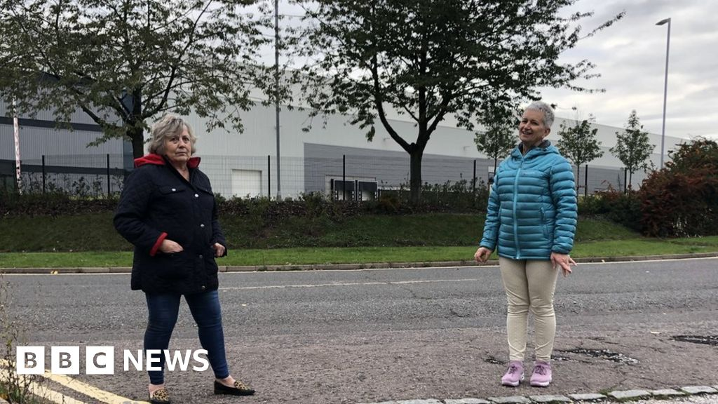 Milton Keynes: Living in the shadow of a 'huge, horrible' warehouse