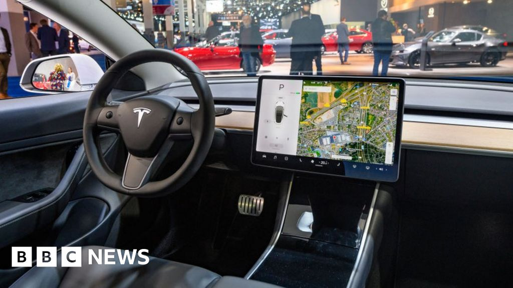 Tesla touch controls land driver with fine