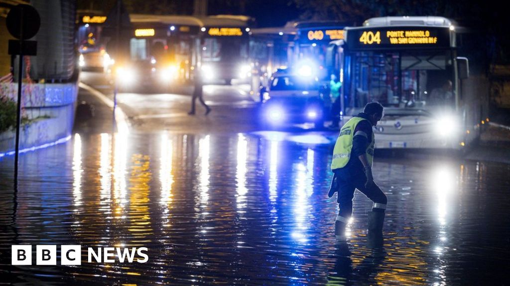 In pictures: Rome suffers freak hailstorm and flooding