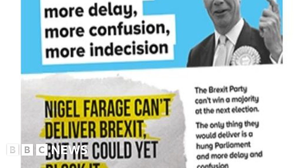 Conservative Party election leaflets suggest Brexit delay