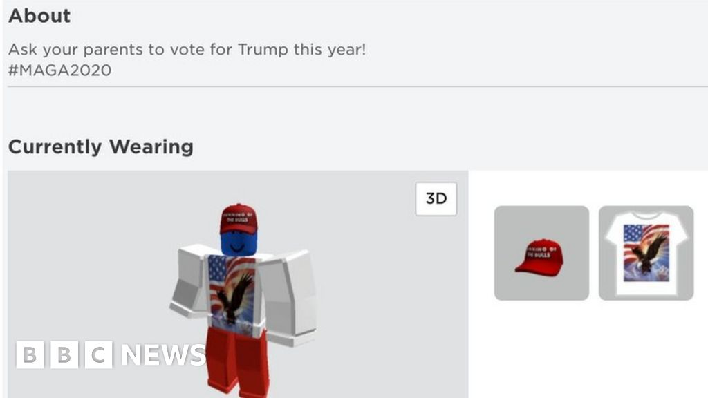 Roblox Accounts Hacked To Support Donald Trump Bbc News