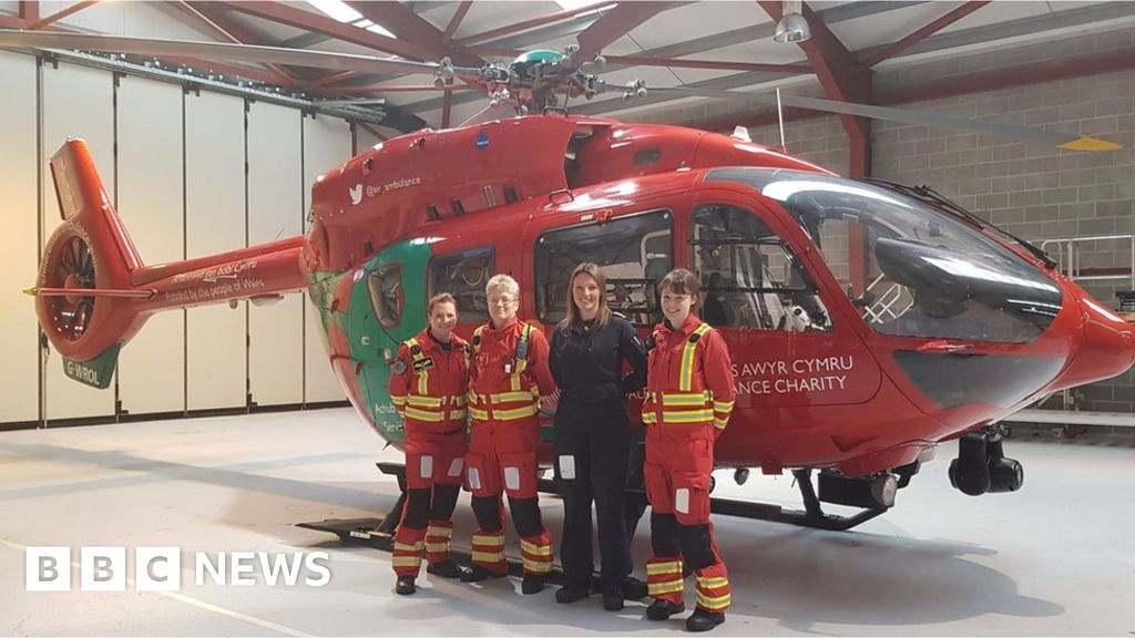 Wales Air Ambulance's first all-female crew takes flight