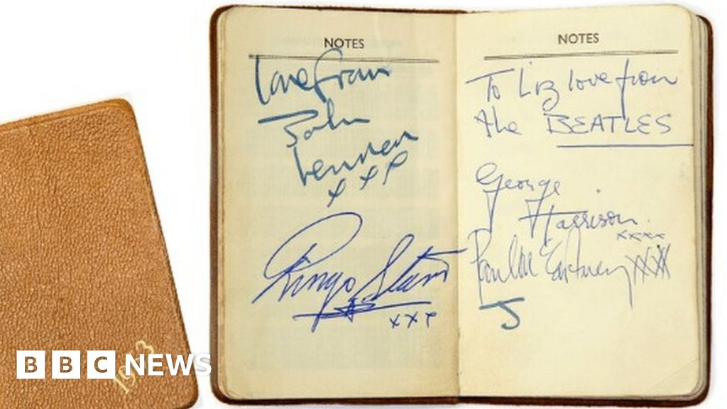 'Forgotten' Beatles autographs from Nottingham gig to be auctioned