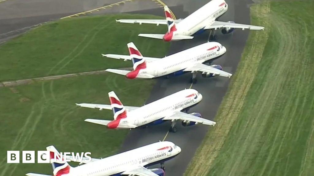 Coronavirus: Grounded planes fill airport runways
