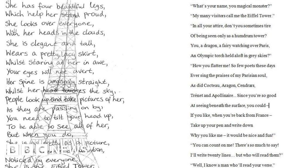 Emmanuel Macron Writes Eiffel Tower Poem For Uk Schoolgirl