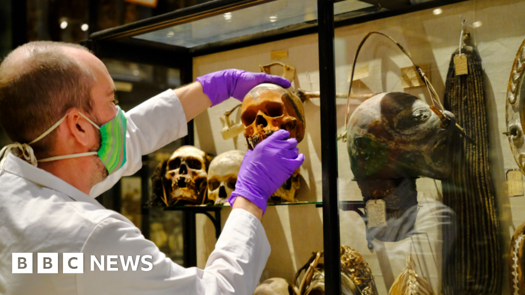 Shrunken heads removed from Pitt Rivers Museum display