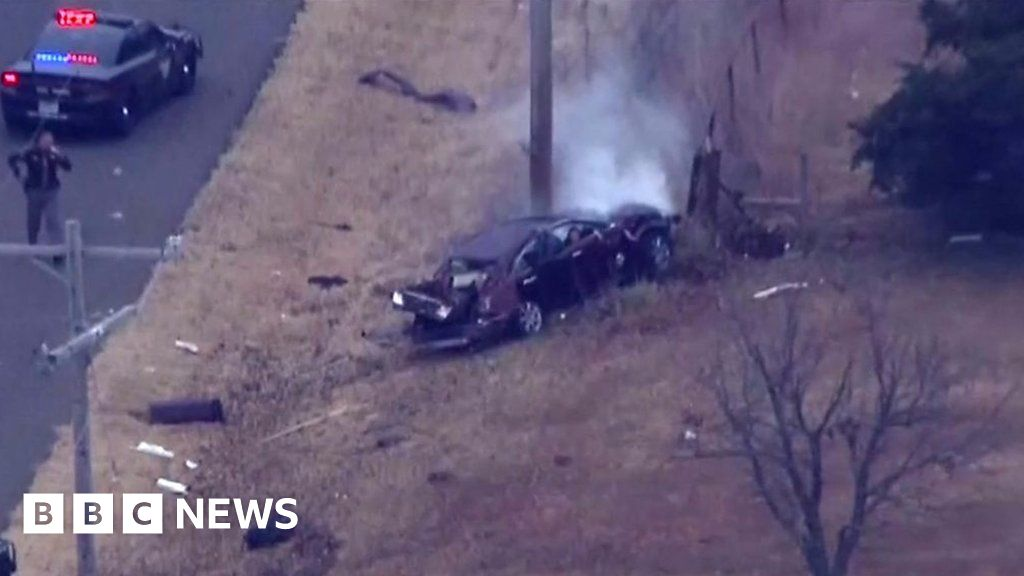 High-speed car chase ends in smash